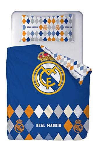 Real Madrid Juego Cama 2 Piezas. Funda Nórdica 150x220