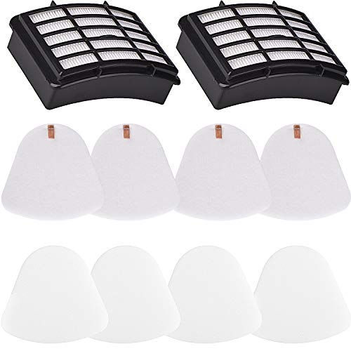 2 Hepa Filter 4 Foam for Shark Vacuum Navigator Lift-Away NV350, NV351, NV352, NV355, NV356E, NV357, NV360, NV370, NV391, UV440, UV490, UV500, UV540, UV541, UV550, Part XFF350 XHF350