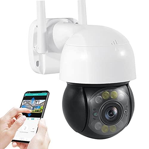 AINSS Cámara de vigilancia IP WiFi Exteriores,Cámara de Seguridad CCTV PTZ HD 3MP,Imopermeable IP66,visión Nocturna,Intercomunicador de Voz,Alarma Sonora,Control Remoto (Cámara WiFi)