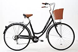Basket will be dispatched separately with different courier may not arrive at same time with main bike 6 speed Shimano revoshift twist gear RS35 and Shimano freewheel 14-28 T Adjustable height for seat and handlebar suitable For People Height 155-180...