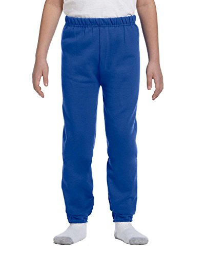 Jerzees Youth 8 oz., 50/50 NuBlend Sweatpants, Medium, ROYAL