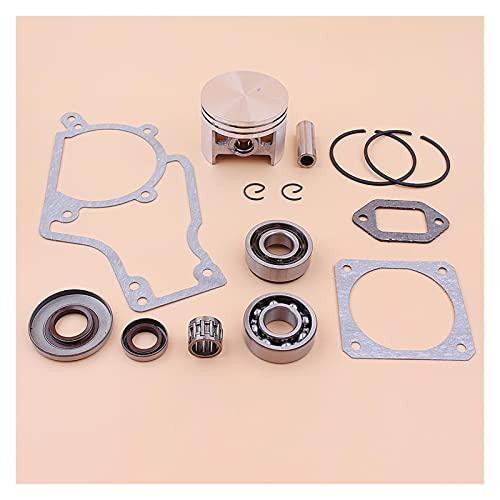Ajuste perfecto Kit de círculos de anillo de pistón de 52 mm para S-TIHL MS380 038 MS 380 Rodamiento de manivela Sello de aceite Junta de junta Juego de motosierra 1119 030 2003 Buena resistencia a la