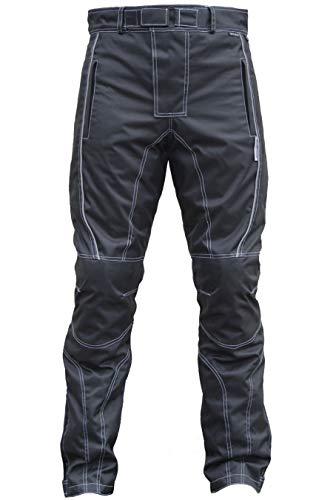 Herren Motorradhose Textilien Motorrad Hose Kombihose Schwarz, Größe:48