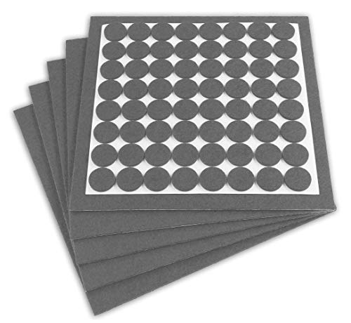 Filzada® Filzgleiter Selbstklebend Set (5x 200x200 mm + 64 Ø 20 mm) - Grau - Profi Möbelgleiter Filz Mit Idealer Klebkraft