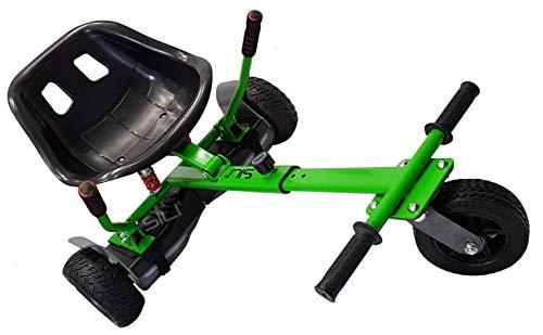 SILI® Aus Straße Suspension Kart für 2 Wheel Self Balance Scooter, verbessertes Design mit Federung unter dem Sitz (GRÜN)