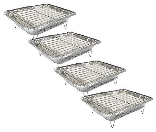 419pX6ppJeL. SL500  - Einweggrill - Praktischer Einweggrill mit Holzkohle und Anzünder - Grill für Wandern, Grill, Picknick, Camping, Strand (4)