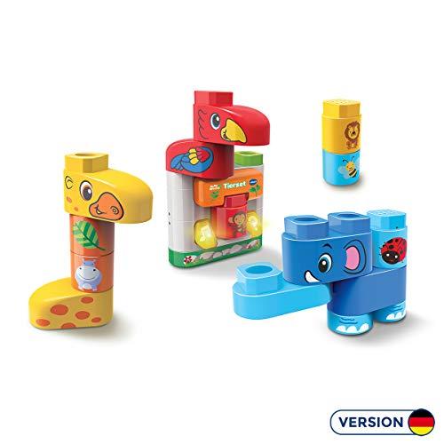 Vtech 80-604604 BlaBlaBlocks - Tierset Bauklötze Bauspielzeug, Multicolour