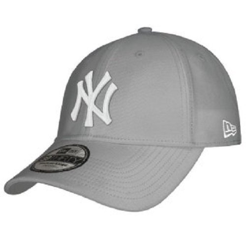 New Era Herren Baseball Cap Mütze M/LB Basic NY Yankees 39Thirty Stretch Back, Grey/White, L/XL, 10298279