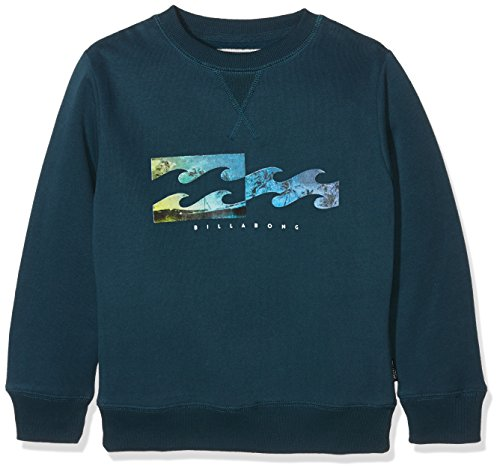 BILLABONG per Bambino, in Pile di Tipo Inverse CR Surfwear Crew-Deep Sea, Taglia: 44