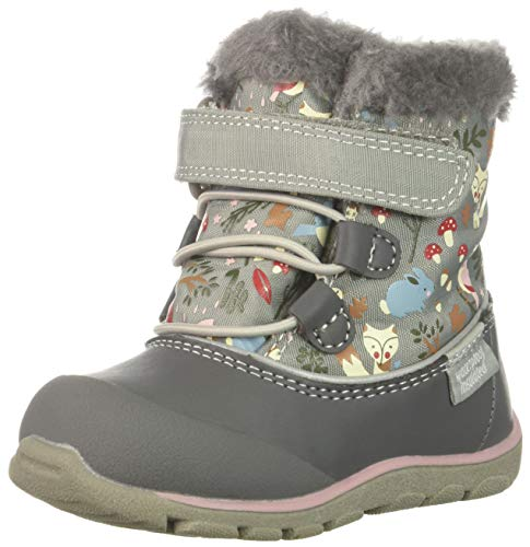 See Kai Run Baby Girls' Abby II WP/in Snow Boot, Gray Woodland, 4 M US Toddler