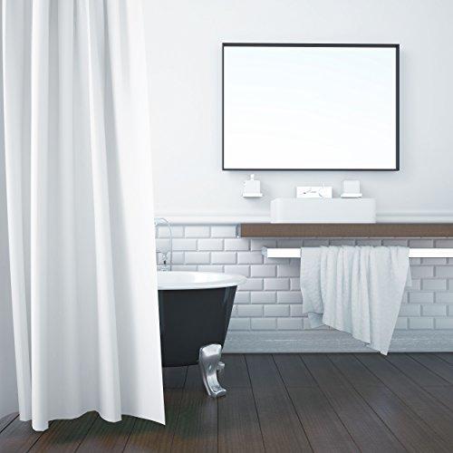 ZOLLNER Duschvorhang, 180x200 cm, Anti-Schimmel, weiß (weitere verfügbar)