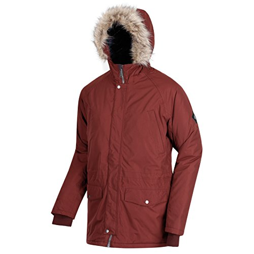 Regatta Herren Wasserdichte Salton Insulated Parka-Jacke - Chocolate - XXL