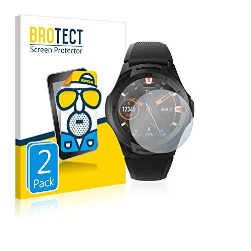 BROTECT 2X Entspiegelungs-Schutzfolie kompatibel mit Mobvoi Ticwatch S2 Bildschirmschutz-Folie Matt, Anti-Reflex, Anti-Fingerprint