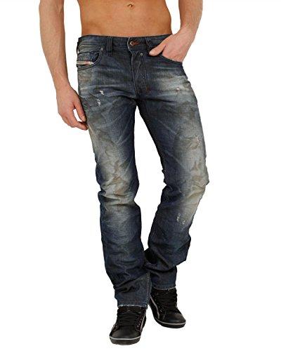 Diesel heren jeans Safado 0804K Regular Straight Slim