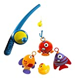 PowerTRC Hook and Reel Fishing Toy Playset for Kids