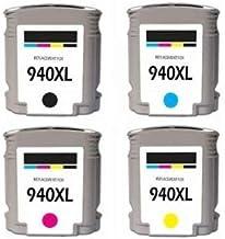 Remanufacturados cartuchos de tinta de repuesto para HP 940X L HP 940HP9401negro, 1cian, 1magenta, 1amarillo Combo Pack en paquete al por menor