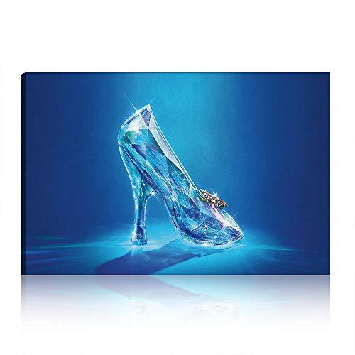 Five-Seller Zapatos De Cristal De Fantasía Pintura De La Lona En La...