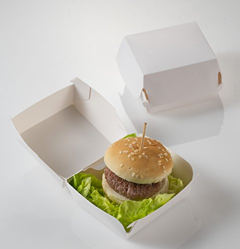 Caja para mini Hamburguesa 7,5x7,5x5 cm – Concha para Burguer - 25 uds