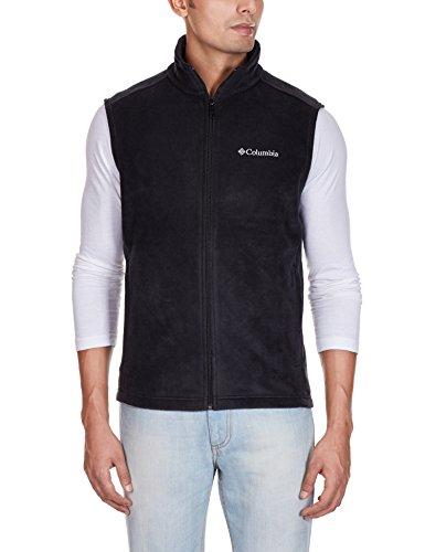 Columbia Men's Cathedral Peak II Fleece Vest, Black, Large