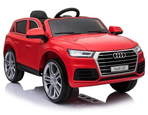 Coche eléctrico para niños Audi Q5 12V, Mando RC, Asiento y Ruedas de plástico, Rojo - ATQ5RED