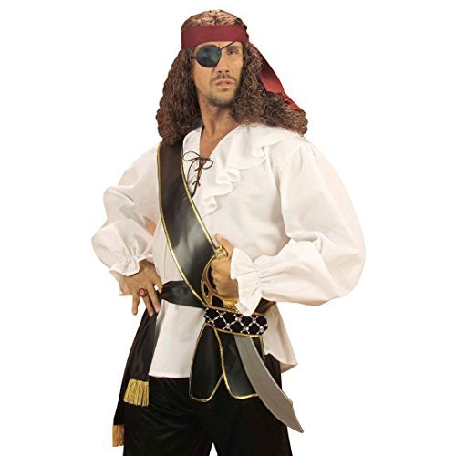 NET TOYS Cinturón de Pirata con Espada florete Arma Correa corsario Accesorios de Vestuario Medieval