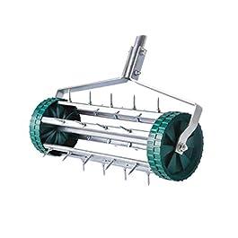 UPP Aérateur de pelouse en rouleau I Scarificateur de pelouse et gazon I Redonnez de la vitalité à votre jardin