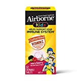 Airborne KIDS Vitamin C 500mg (per serving) - Very Berry Chewable Tablets (32 count in a box), Gluten-Free Immune Support Supplement, With Vitamins A C E, ZINC, Selenium, Antioxidants