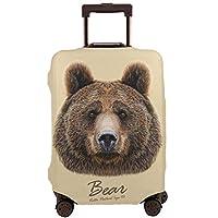 スーツケースカバー 熊の顔 キャリーカバー ラゲッジカバー 伸縮素材 キズから保護 防塵カバー通気性 お荷物カバー 傷防止 汚れ防止 カバー おしゃれ 旅行 海外 キャリーバッグ カバー キズから保護 便利 ジッパー 出張 旅行