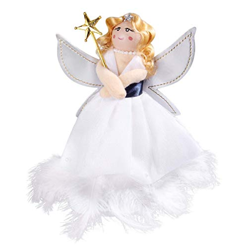 1pc Angel Treetop Adornment Creative Novel Lightweight Decorative Practical Adornment Angel Tree Topper for Party Christmas Home