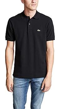 Lacoste Men s Short Sleeve L.12.12 Pique Polo Shirt Black XXXL
