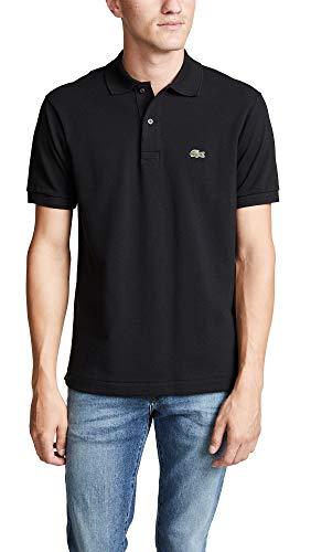 Lacoste Men's Short Sleeve L.12.12 Pique Polo Shirt, Black, XL