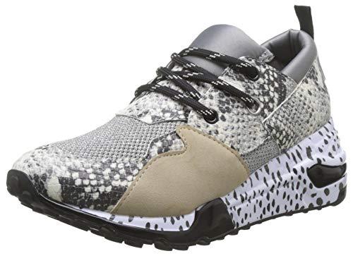 Steve Madden Cliff Sneaker, Zapatillas Mujer, Multicolor Natural Snake 236, 37 EU