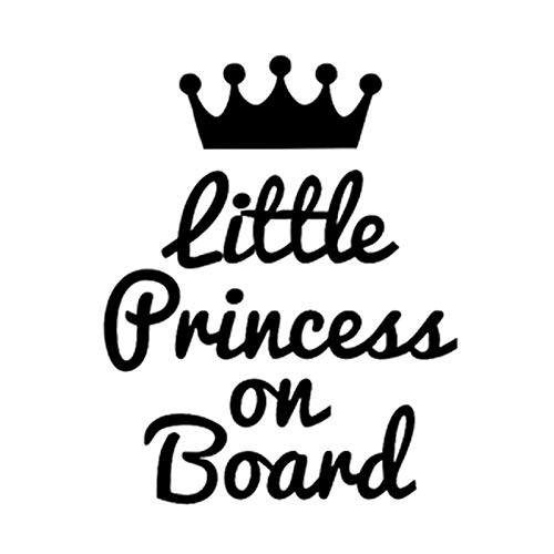 RONSHIN Accessoire Little Princess On Board Stickers de voiture mignons