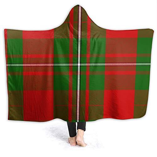 "XNLHQH IJ Hooded Blanket, Wearable Hood Throw Blankets Wrap,Clan MacGregor Tartan Print Soft Kids Blanket Gift Cozy Magic Cloak 50"""" by 40"