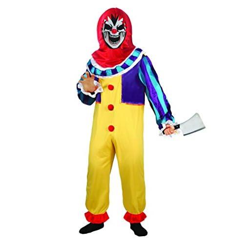 Ciao - Clown Boy Costume Horror con Mannaia per Bambini, Multicolore, 5-7 anni, 13034.5-7
