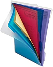 Office Depot 5-Folder Poly Project Organizer, Letter Size, Assorted Colors (No Color Choice), 9109
