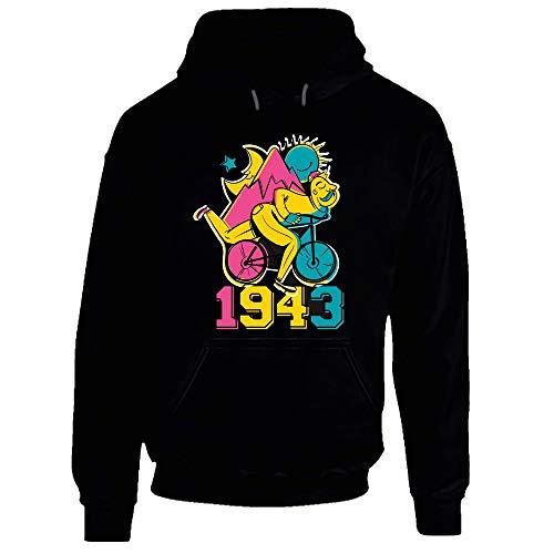 LSD Albert Hofmann Fahrrad 1943 Acid Hoodie Gr. XXL, Schwarz