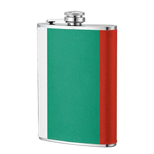 Miedhki Bulgarische Flagge (2) 8OZ Edelstahl Hip Drink Nierenflasche