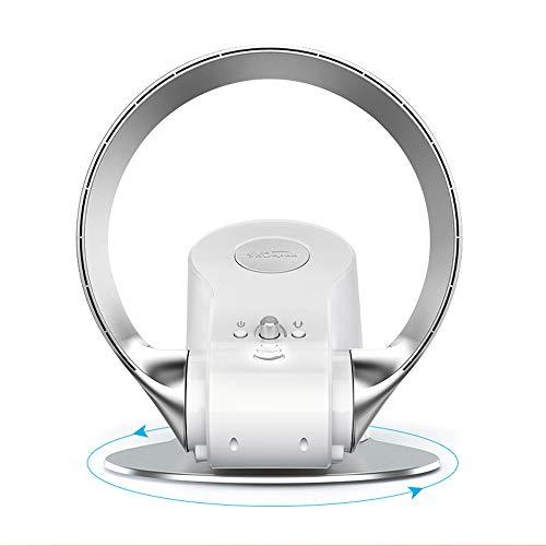 Electric fan Rotorloser Ventilator,180 ° Einstellbar,90 ° Drehung,Ultra-leiser Blattloser Wandventilator,Mit Fernbedienung/Timer,Schwarz/Grau, 26W