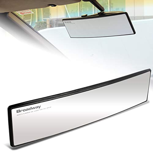 EPARTS Universal Broadway 300mm 12 Inch Clear Interior Convex Wide Angle Reduce Blind Spot Clip On Rear View Mirror
