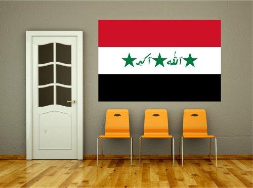 Kiwistar Wandtattoo Sticker Fahne Flagge Aufkleber Irak_1991-2004 60 x 40cm