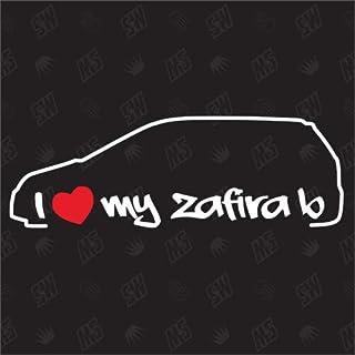 I love my Opel Zafira B   Sticker ,Bj. 05 14
