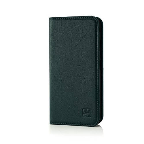 32nd Klassische Series - Lederhülle Hülle Cover für Motorola Moto G5, Echtleder Hülle Entwurf gemacht Mit Kartensteckplatz, Magnetisch & Standfuß - Jägergrün