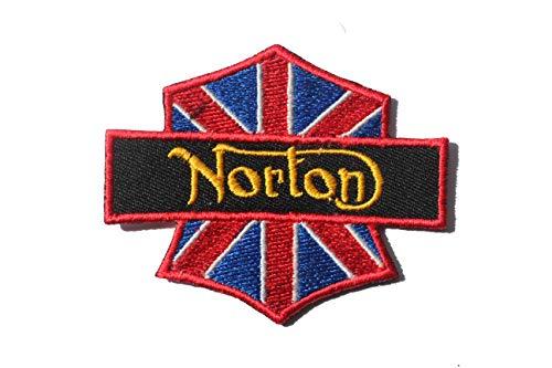 perfect patches Parches bordados de Norton Union Jack, para planchar o coser