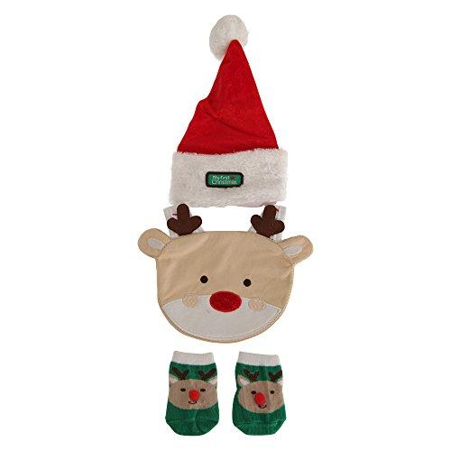 Nursery Time - Ensemble bonnet, bavoir et chaussettes My First Christmas - Bébé unisexe (Taille unique) (Multicolore)
