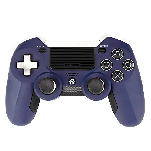 SADES Wireless Gaming Controller Dual Competitive Sticks, Sensitive Trigger Buttons and Multi-touch Clickable Touch Pad Für PlayStation 4, Support Laptops, Desktop computers and Smart TV