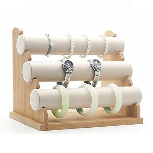 Soporte de exhibición de la joyería Titular de pulsera de 3 niveles, Soporte de Organizador de Joyería y Pantalla, Soporte de exhibición de pulsera desmontable, Reloj de pulsera con estilo Organizador