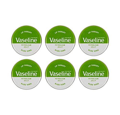 VASELINE LIP BALM TINS - [Aloe Vera (Green Tin),6]
