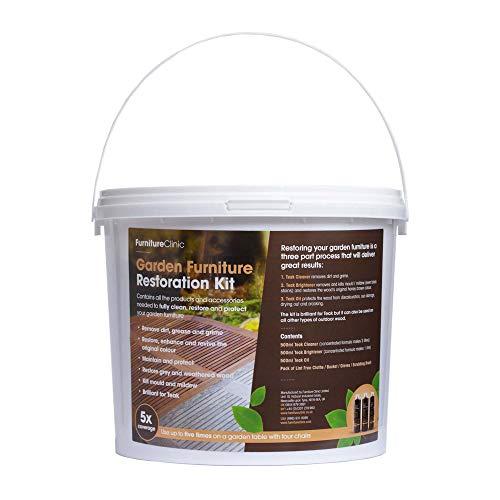 Garden Furniture Restoration Kit - Teak Oil, Brightener & Teak Cleaner, Furniture Cleaner for Outdoor Patio Furniture