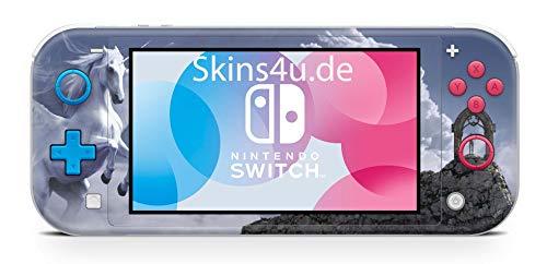 Skins4u Aufkleber Skins für Nintendo Switch Lite Konsole Decal Cover Sticker Schutzfolie Design Pegasus